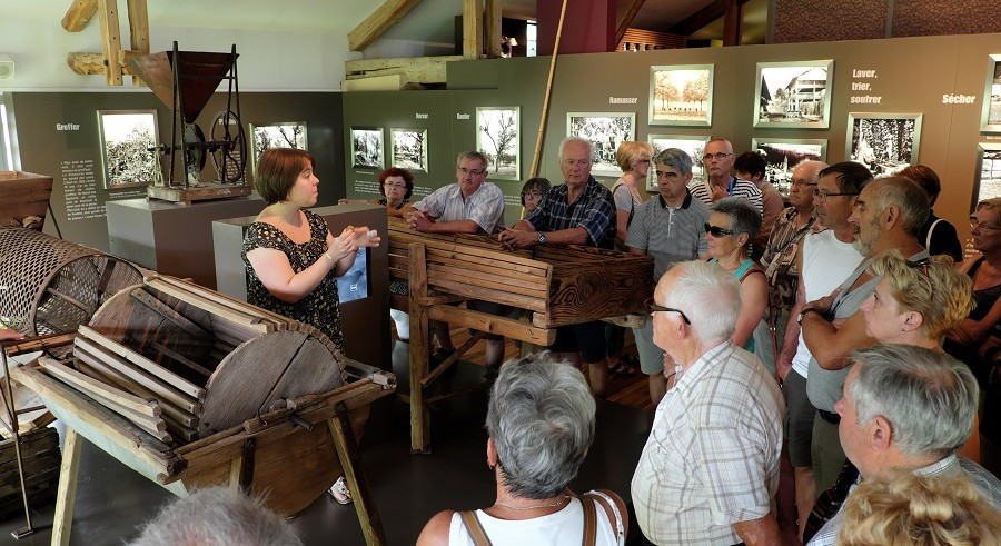 English guided tour of the museum « Le Grand Séchoir »